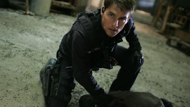 Tom Cruise hace sus escenas de riesgo